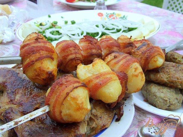 Рецепт Картофель в беконе. Шашлык из картошки как гарнир или самостоятельное блюдо.