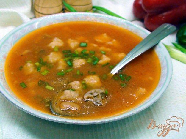 фото рецепта: Фасолевый суп с клёцками.