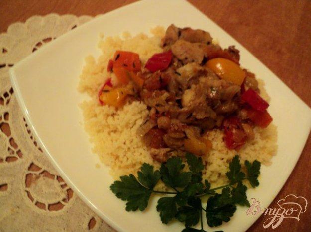 фото рецепта: Кус-кус с курицей и овощами