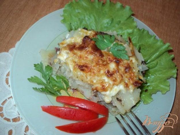 Рецепт Картофель с отбивными по французски.