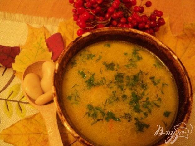 Рецепт Суп с фасолью и грибами по-закарпатски.