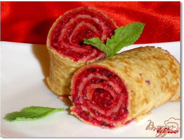 Рецепт Постные блины с десертной начинкой