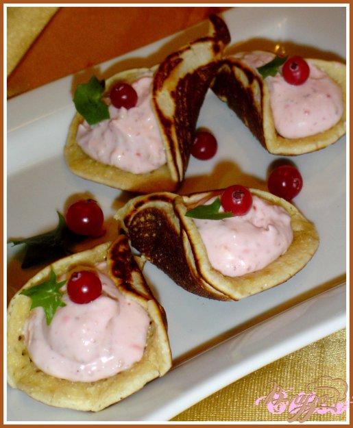 Рецепт Блинчики арабские (катаеф) с творожно-клубничной начинкой