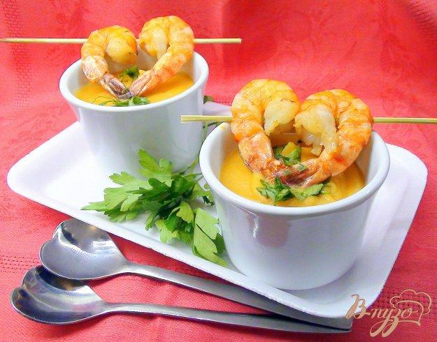 Рецепт Картофельный суп-пюре с креветками.