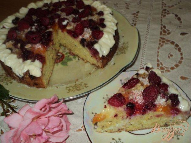 Рецепт Абрикосово-малиновый пирог.