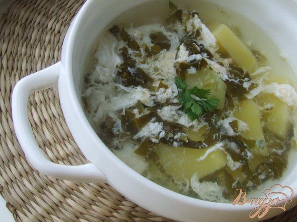 фото рецепта: Зеленые щи со щавелем