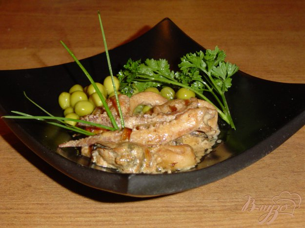 Рецепт «Морской коктейль» в сливочно-соевом соусе