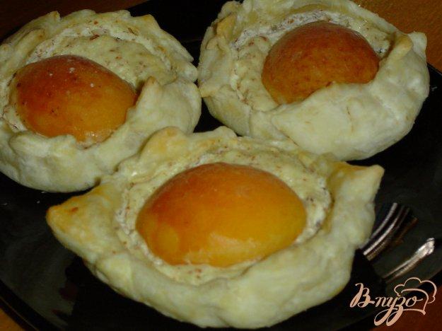 Рецепт Творожно - абрикосовые слойки