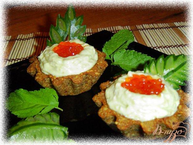 Рецепт Тарталетки с кремом из авокадо с сельдью