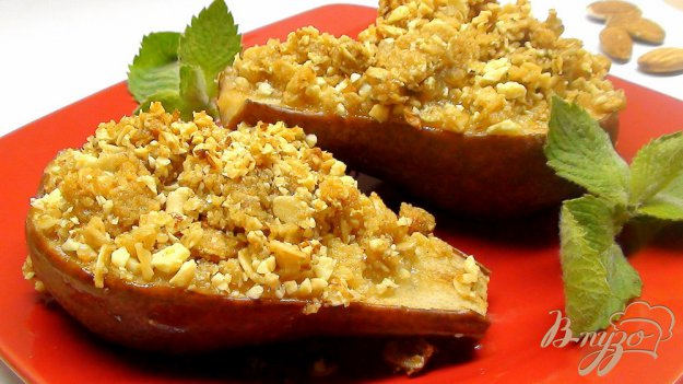 Рецепт Груши и Яблоки печёные, в стиле «Крамбл».