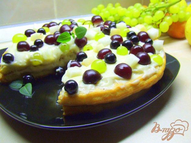 Рецепт Торт «ЗАВАРУШКА»! Заварное тесто, заварной крем и много свежих ягод-фруктов!