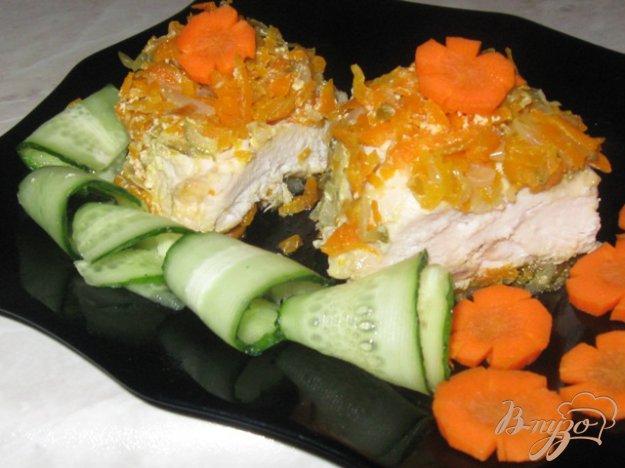 Рецепт Сочная куриная грудка с овощами