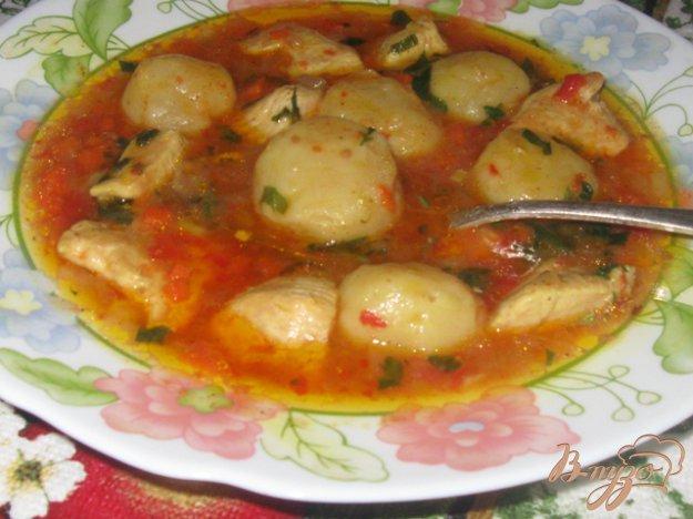 Рецепт Курица в остром соусе с итальянскими клецками