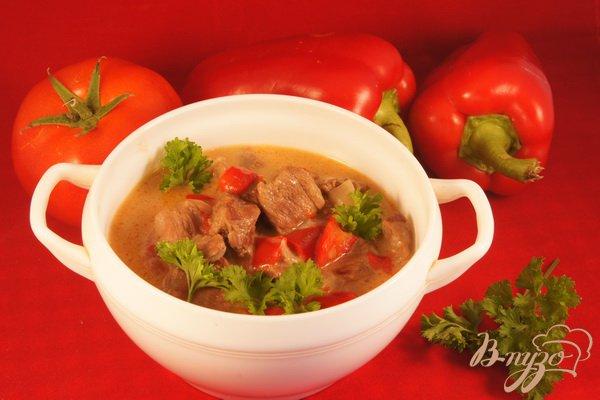 Рецепт Паприкаш с телятиной