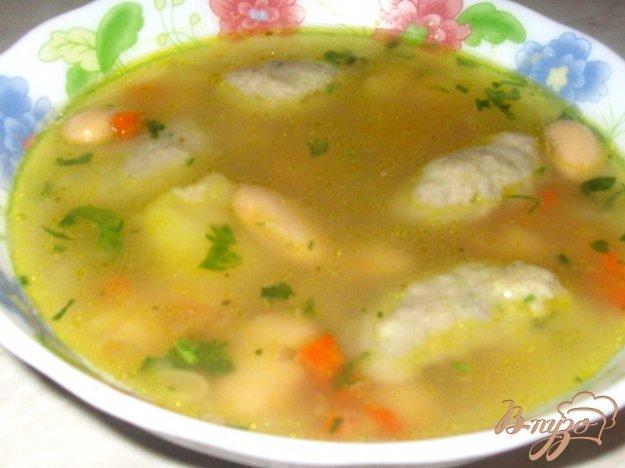 Рецепт Фасолевый суп с грибными клецками