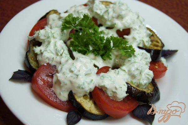 """Рецепт Салат со свежими помидорами и """"баклажанами-фри"""""""