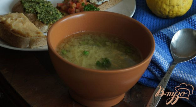 Рецепт Гороховый суп из Алматуры (minestra di piselli di almatura)