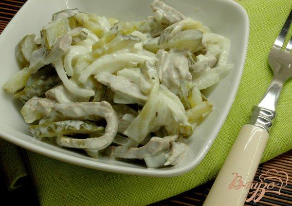 Рецепт Салат с отварной телятиной
