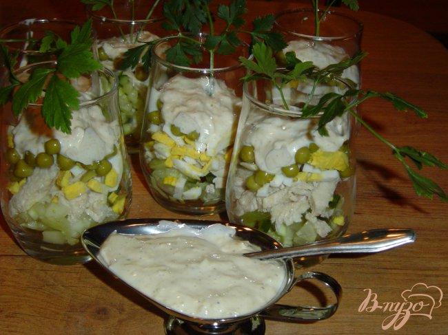 салат коктейль с курицей фото рецепт