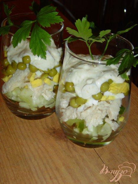 Рецепт Салат-коктейль с курицей