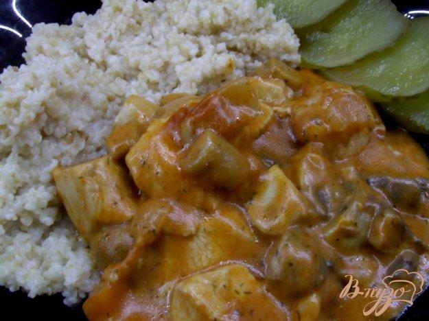 Рецепт Гуляш с курицей и грибами