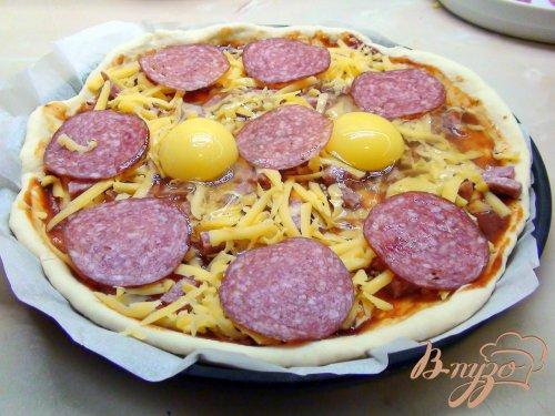 Пицца «Идея для завтрака», на бездрожжевой основе.