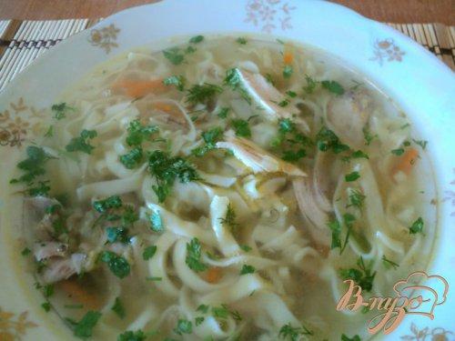 Суп с домашней лапшой из фазана.
