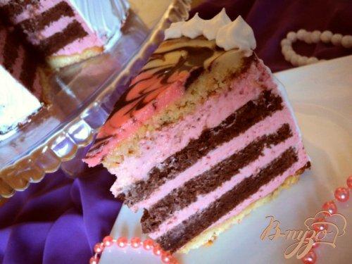 Торт  малиново-шоколадный «Фентази»