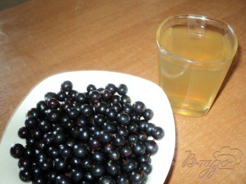 Смородина в желе с белым вином.