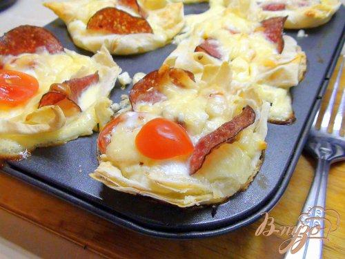 Корзиночки из лаваша с омлетом. Ещё одна идея для субботнего завтрака.