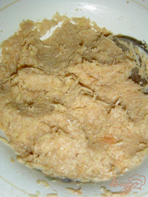 Биточки картофельно-яблочные с хреном