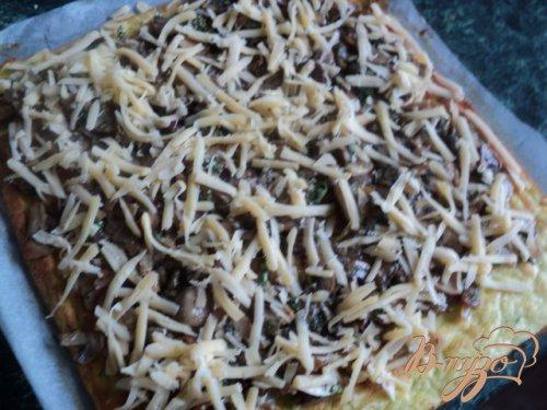 Рулет из кабачков с грибами и сыром.