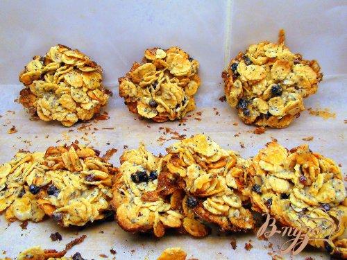 Быстрое печенье из кукурузных хлопьев без грамма муки.