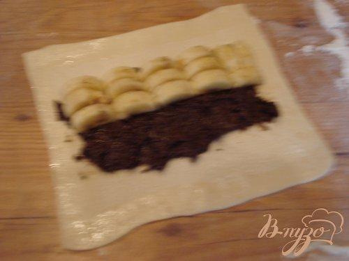 Рулетики с бананом и кокосом