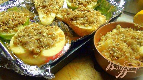 Груши и Яблоки печёные, в стиле «Крамбл».