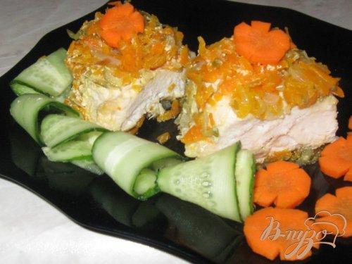 Сочная куриная грудка с овощами