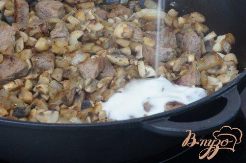 «Жульен»-big в йогурте с пармезаном и грецкими орехами