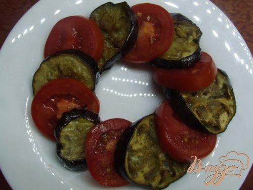 """Салат со свежими помидорами и """"баклажанами-фри"""""""