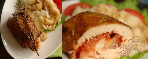 Рулетики из куриного филе с томатом и моцареллой