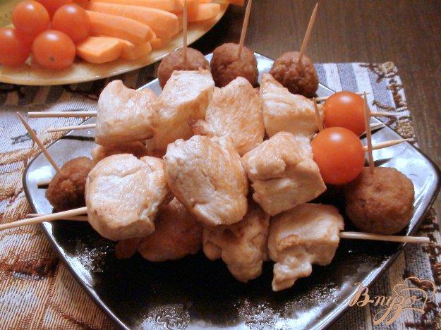 Рецепт Сочные шашлычки из куриной грудки.