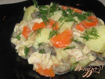 Рецепт Бланкет из курицы и картофеля