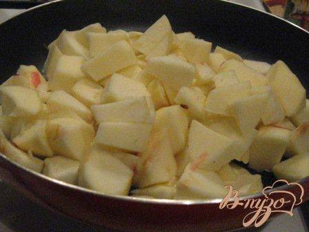 Бургундская яблочная запеканка