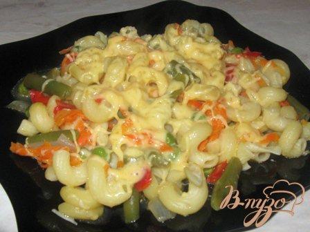 Рецепт Рожки с овощами и сыром