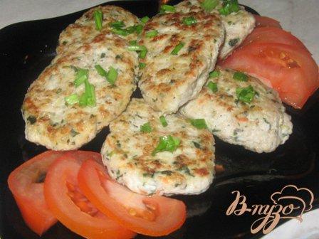 Рецепт Куриные котлеты с овсянкой, шпинатом и морковью