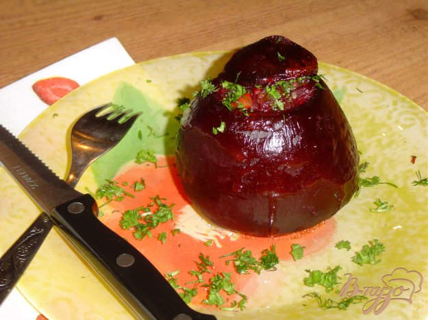 Рецепт Свекла, фаршированная рисом и овощами