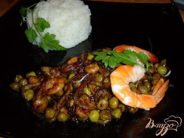 Рецепт Рисовая вермишель с креветками по-китайски