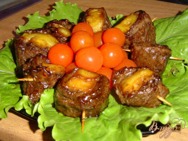Рецепт Говядина с ананасом