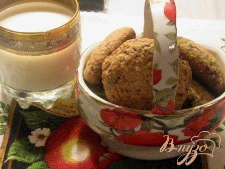 фото рецепта: Печенье овсяное с шоколадом