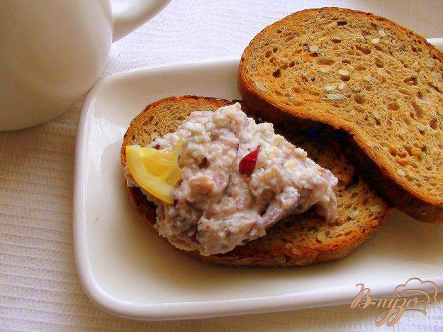 Рецепт Селёдочный салат на тостах, к утреннему чаю!