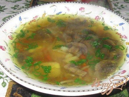 Суп грибной с вермишелью